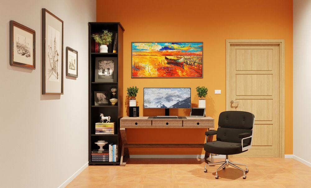birou portocaliu