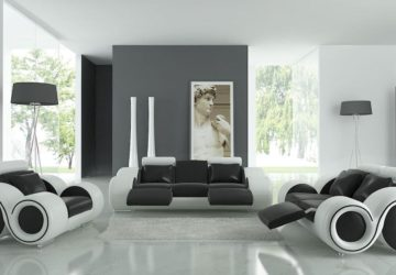 decoruri alb negru
