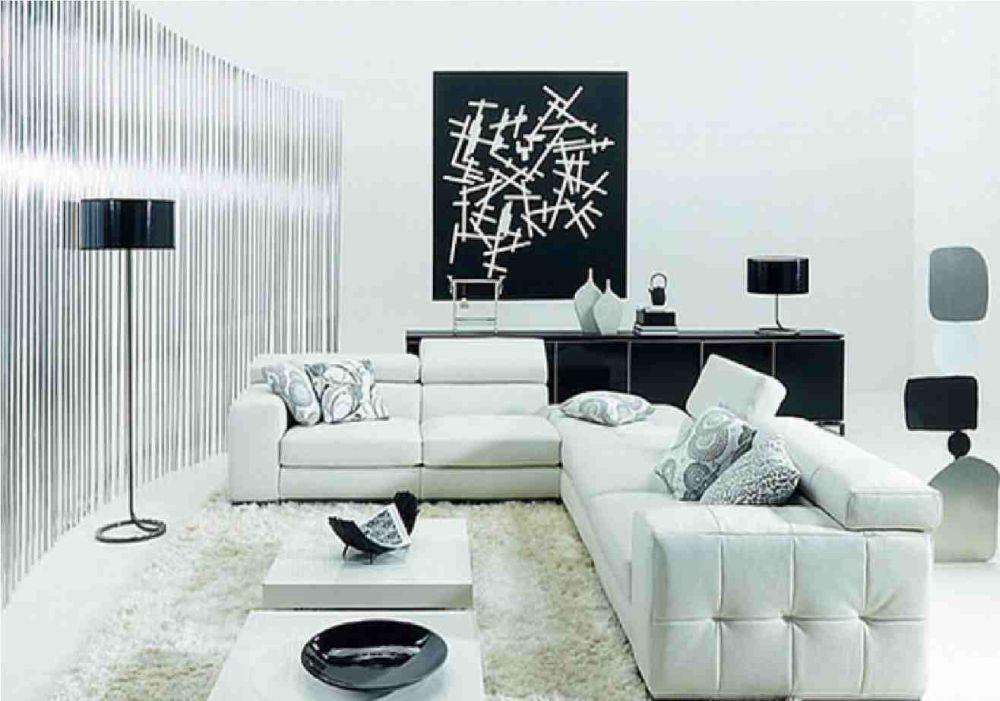 mobila alb negru