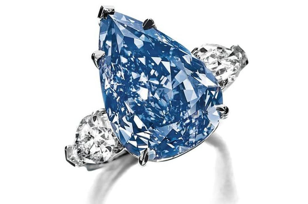 The Winston Blue Diamond Ring